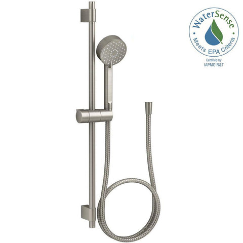 Bathroom, Awaken 3-Spray Function Hand Shower with Slide Bar Kit in Vibrant Brushed Nickel
