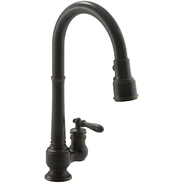Kitchen Faucet, Artifacts Single-Handle Pull-Down Sprayer in Oil Rubbed Bronze