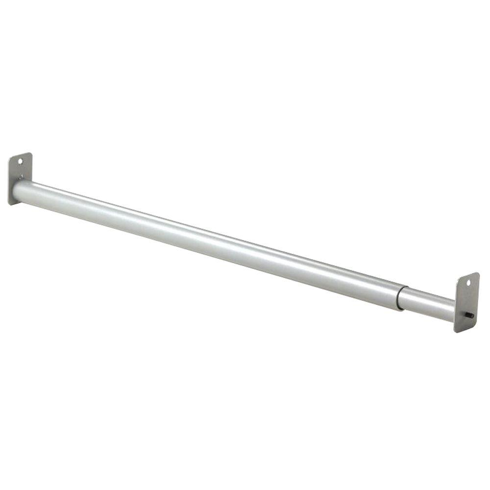Closet rod, Martha Stewart Living 24 in.- 35 in. Adjustable Silver Rod