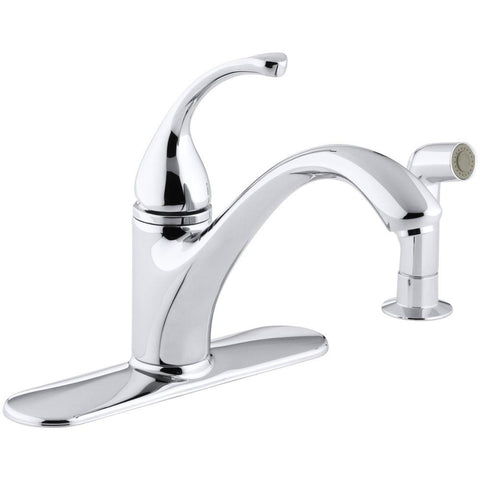 Kitchen Faucet, Forte Single-Handle Standard with Side Sprayer in Polished Chrome