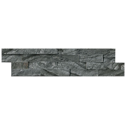 Wall Tile, Glacial Black Ledger Panel 6 in. x 24 in. Natural Marble Wall Tile (10 cases / 60 sq. ft. /