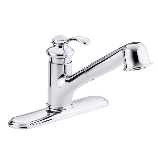 Fairfax Single-Handle Pull-Out Sprayer Kitchen Faucet In Polished Chrome