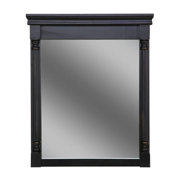 "St. Paul Valencia Wall Mirror Antique Black Finish 34"" T 26"" W"