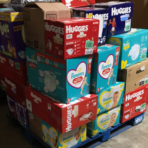 Large Box of Diapers (120+ diapers)