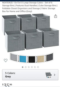 Foldable Fabric Storage Cube Sets
