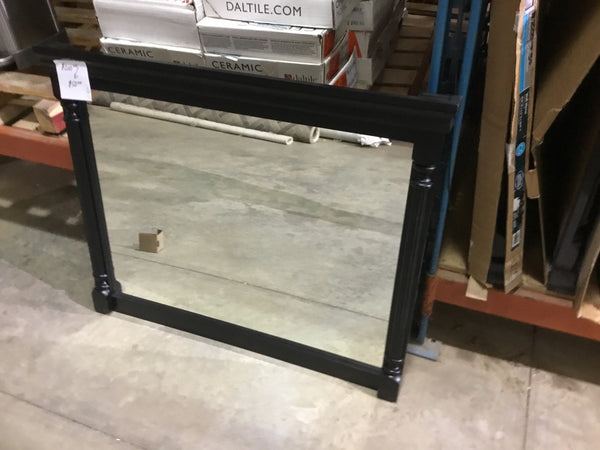 "St. Paul Valencia Wall Mirror Antique Black Finish 34"" T 42"" W"