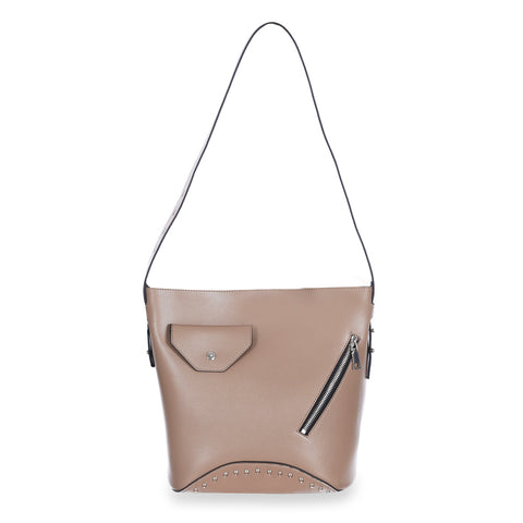 dufflette handbag by Sincerain beige color