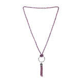 Tassel Pendant Necklace In Purple