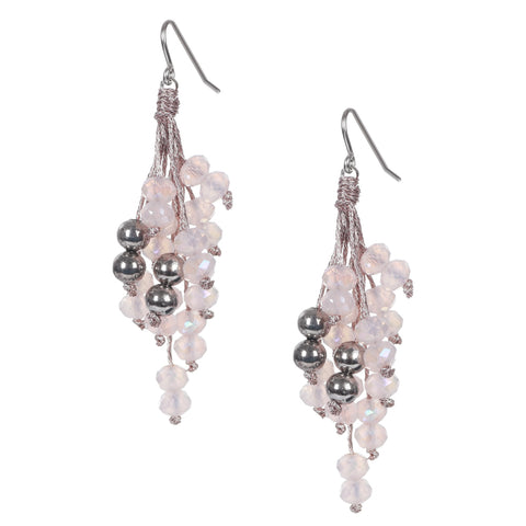 Pale Pink Italian Glass Beads Earrings