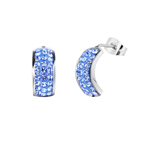 Aquamarine Swarovski Crystals Stud Earrings