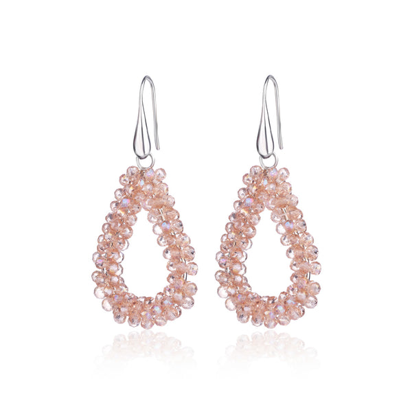 Peach Italian Beaded Earrings