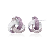 Knot Stud Clasp Earrings