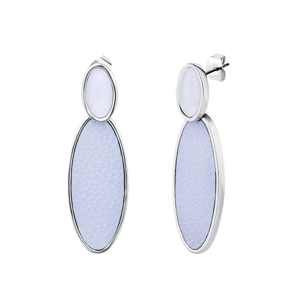 Lavender Blue  Drop Earrings With Stud Clasp