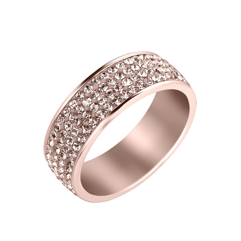 Sleek Peach Ring With Swarovski