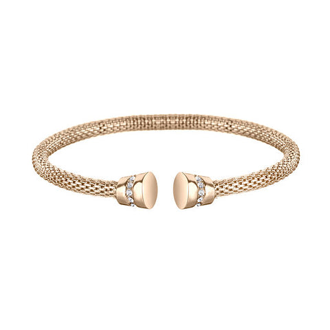 Gold Plated Mesh Cuff Free Size Bracelet