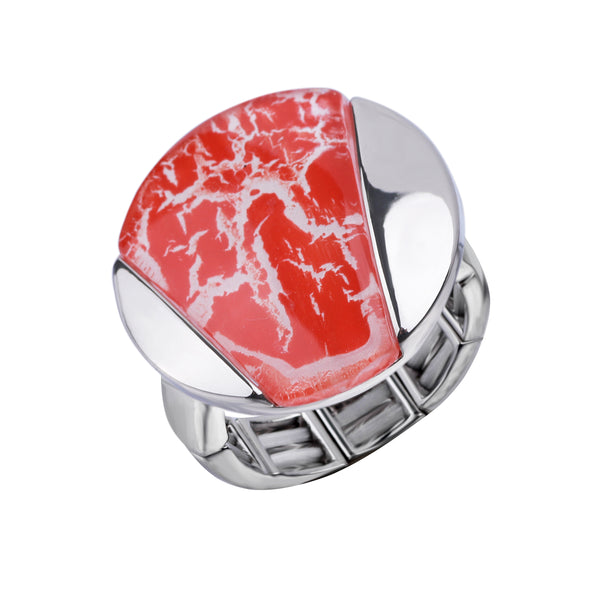 Free Size Coral Red Ring