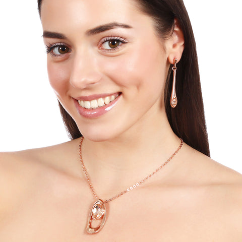 18k Plated Necklace Pendant With Swarovski