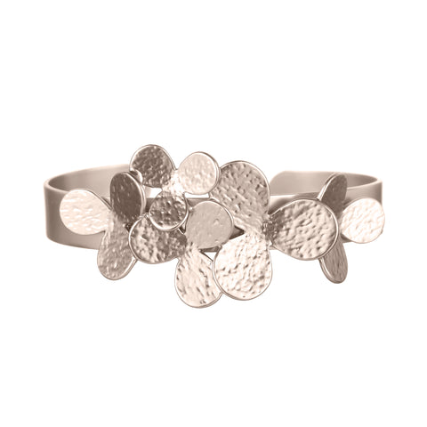 Cuff Flowers Light Gold Bracelet