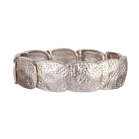 Textured Matt Light Gold Free Size Bracelet