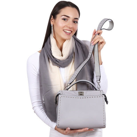 Top Handle Handbag In Genuine Leather