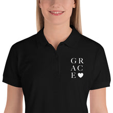 """Grace"" Embroidered Women's Polo Shirt"