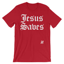 """Jesus Saves"" Unisex short sleeve t-shirt"