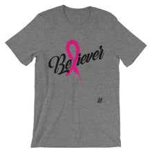 """Breast Cancer Awareness Believer"" Short-Sleeve Unisex T-Shirt"