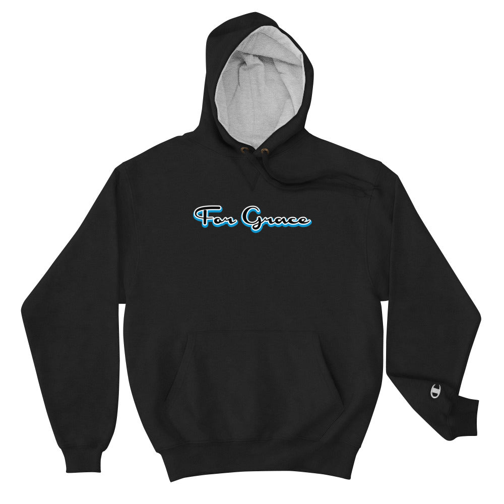 For Grace Signature Champion Hoodie - Blue