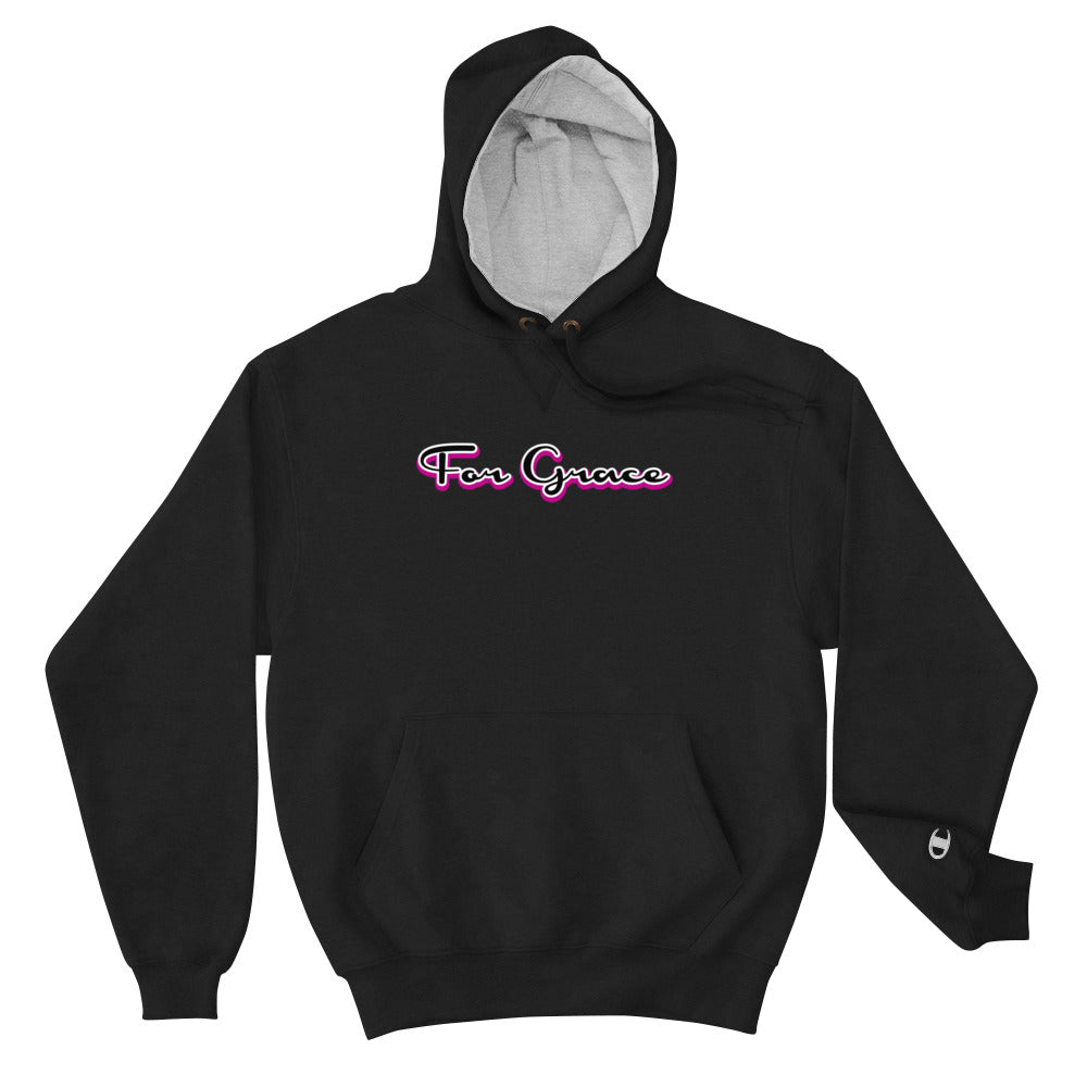 For Grace Signature Champion Hoodie - Pink