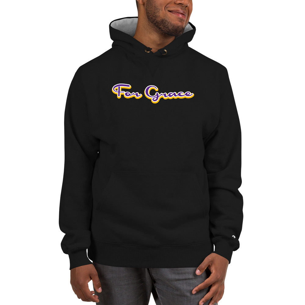 For Grace Signature Champion Hoodie - Purple and Gold Colorway