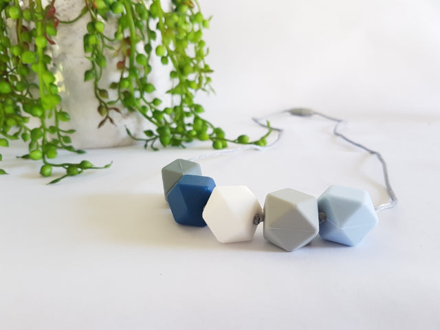 Mizzle Geo Hex Collection – Stone Wash Blue