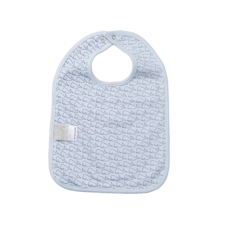 Reversible Bib - Fish Scale / Willa Whale | Mizzle Baby & Children's Clothing