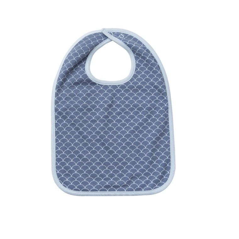 Reversible Bib - Fish Scale / Willa Whale