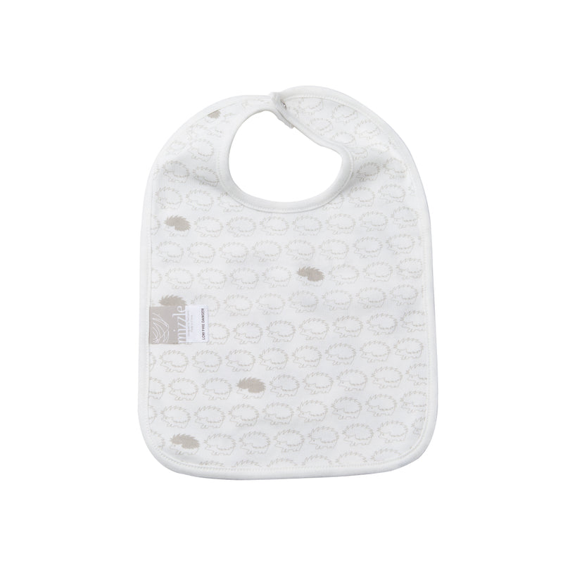 Reversible Bib - Polkadot / Henley Hedgehog | Mizzle Baby & Children's Clothing