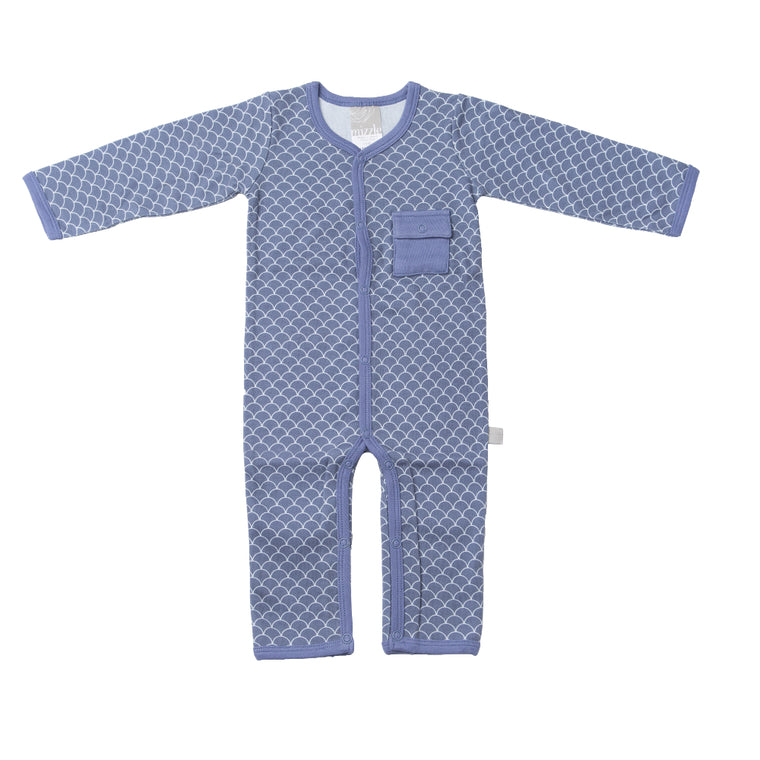 Feet Out Romper - Fish Scale