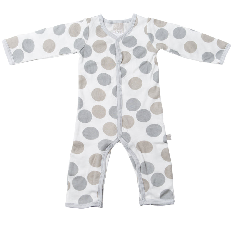 Feet Out Romper - Polkadots