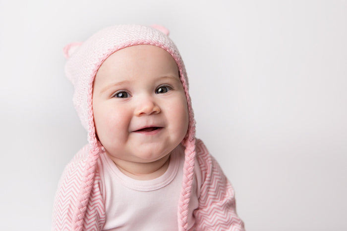 Baby Bear Beanie - Soft Pink | Mizzle Baby & Children's Clothing