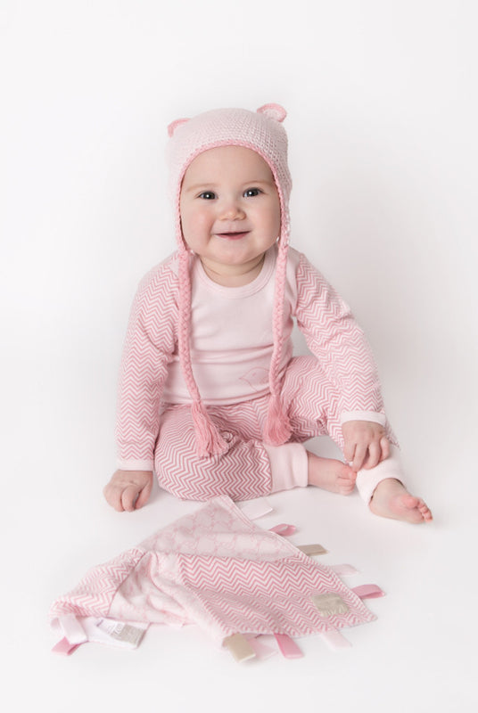 Cuffed Pants - Pink Chevron | Mizzle Baby & Children's Clothing