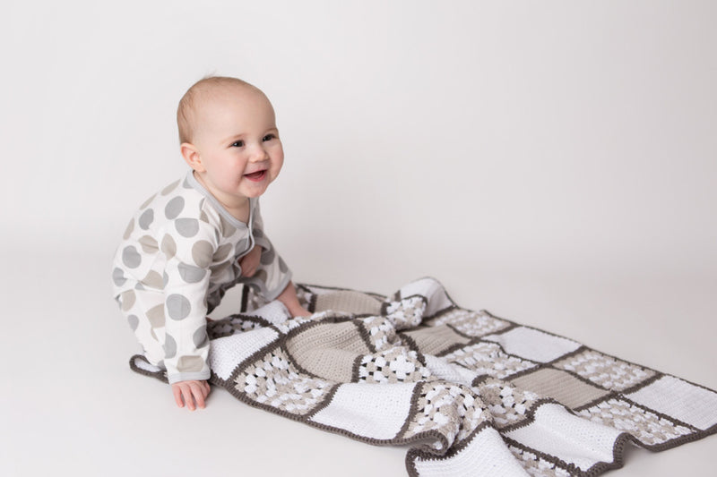 Nanna Knit Crochet Blanket - Neutral | Mizzle Baby & Children's Clothing
