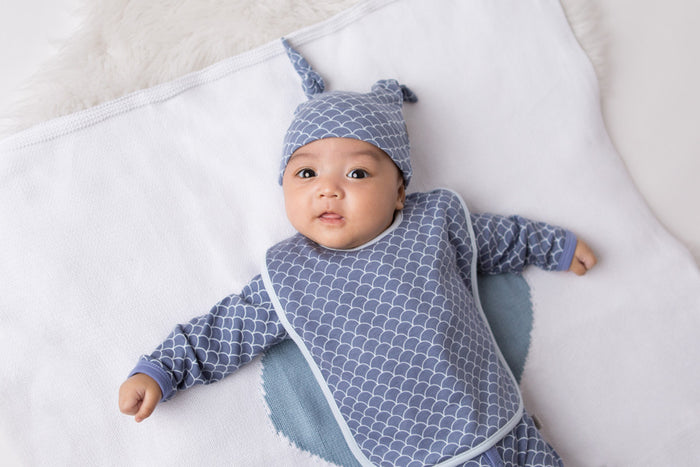 Double Knotted Hat - Fish Scale | Mizzle Baby & Children's Clothing