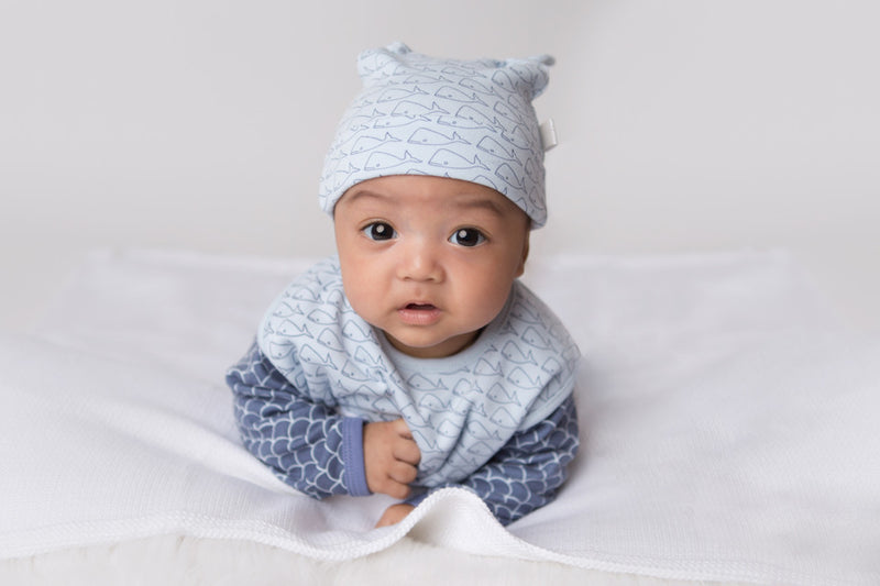 Double Knotted Hat - Willa Whale | Mizzle Baby & Children's Clothing