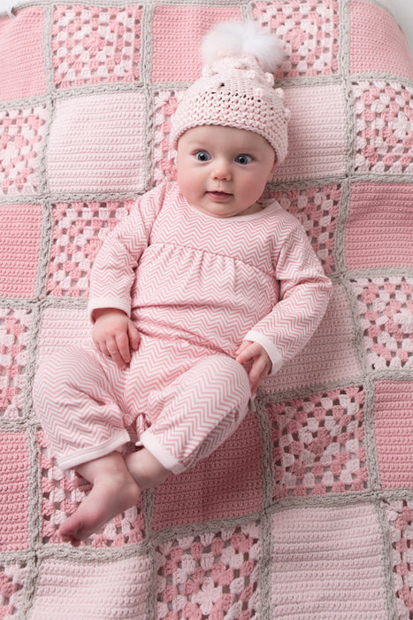 Feet Out Romper - Pink Chevron | Mizzle Baby & Children's Clothing