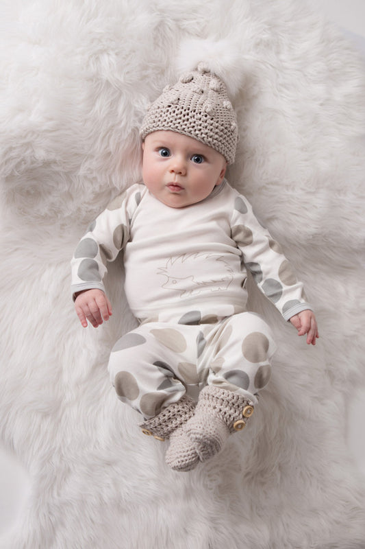 Crochet Booties - Pumice | Mizzle Baby & Children's Clothing