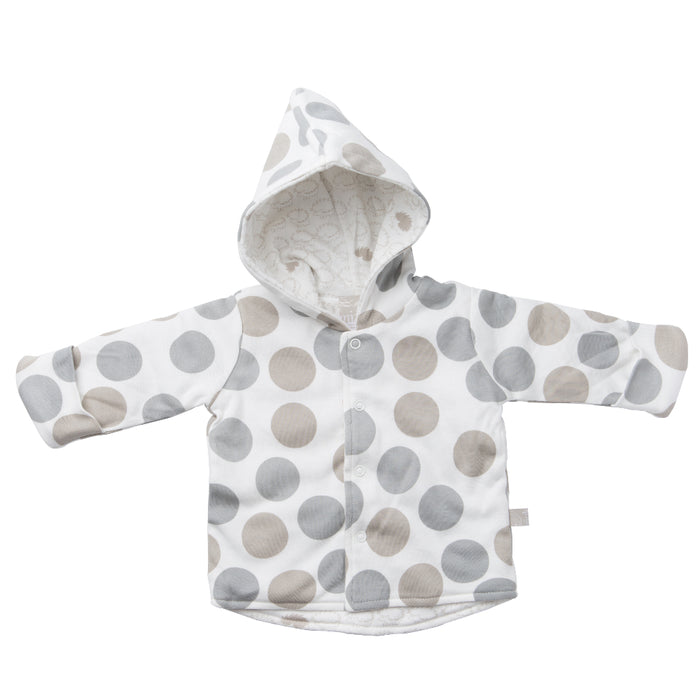 Reversible Quilted Jacket - Polkadot / Henley Hedgehog | Mizzle Baby & Children's Clothing