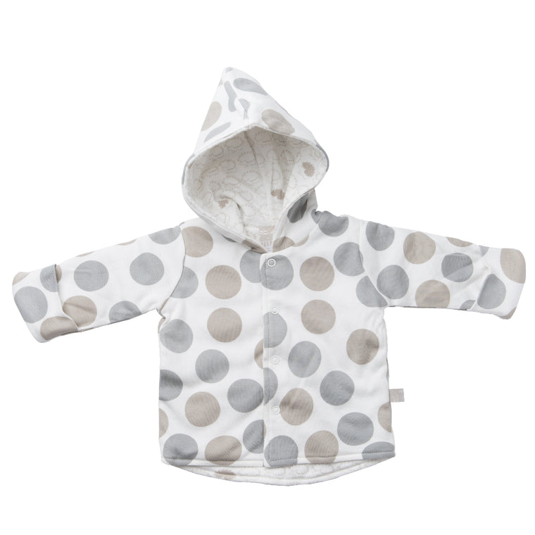 Reversible Quilted Jacket - Polkadot / Henley Hedgehog