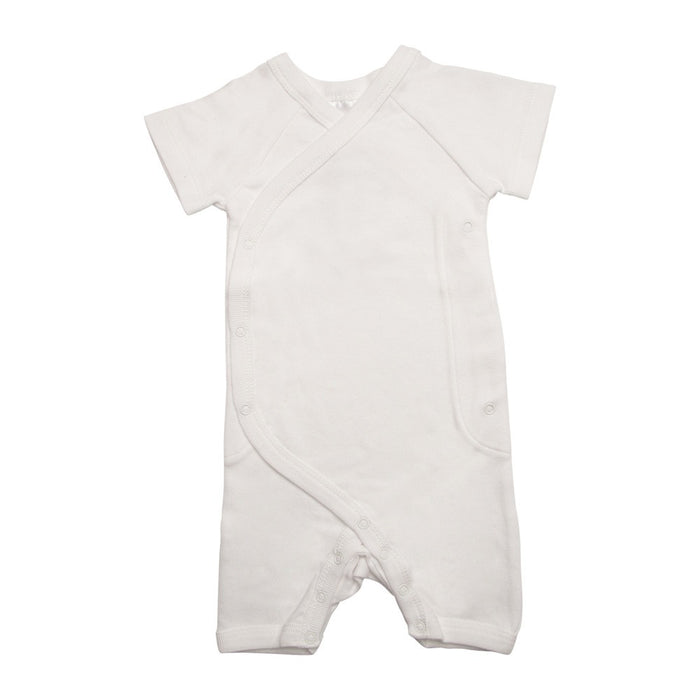 Short Wrap Romper - White | Mizzle Baby & Children's Clothing