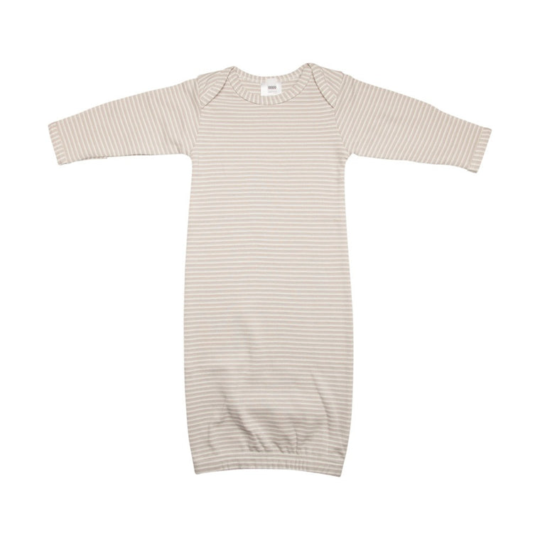 Newborn Nightie - Neutral Stripes