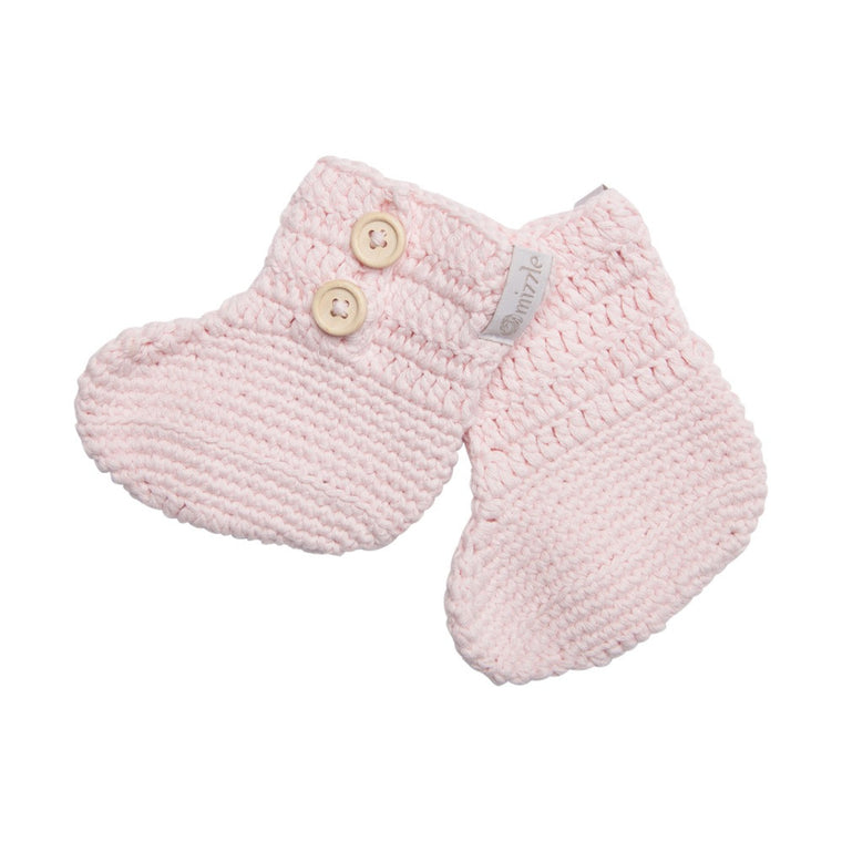 Crochet Booties - Soft Pink