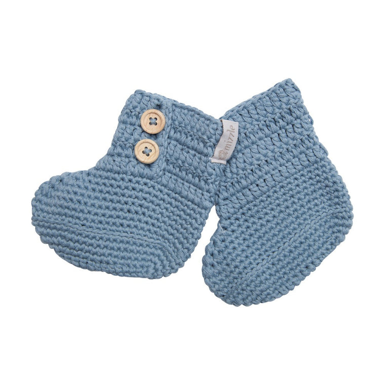 Crochet Booties - Blue