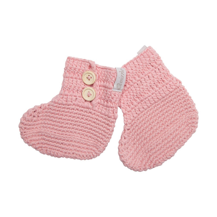 Crochet Booties - Rose Pink